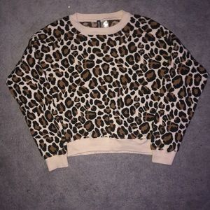 Divided cheetah print sweater!